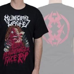 Municipal Waste - Headbanger Face Rip - T-shirt (Men)