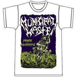 Municipal Waste - Massive Aggressive [white] - T-shirt (Men)