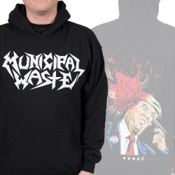 Municipal Waste - Trump Walls Of Death - Hooded Sweat Shirt (Homme)