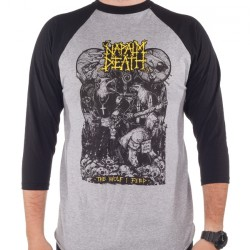 Napalm Death - Wolf I Feed - Baseball Shirt 3/4 Sleeve (Homme)