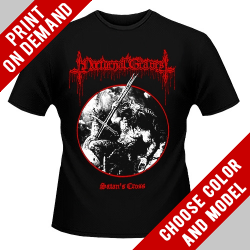 Nocturnal Graves - Satan's Cross - Print on demand