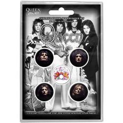 Queen - Faces - BUTTON BADGE SET