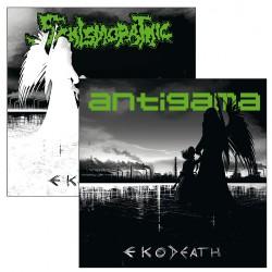 "Schismopathic - Antigama - Eko-Death - 7"" vinyl"