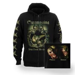 Summoning - With Doom We Come - Hooded Sweat Shirt Zip (Homme)
