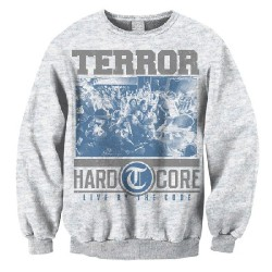 Terror - Hardcore (Ash Grey) - Sweat shirt (Men)