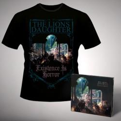 The Lion's Daughter - Existence Is Horror - CD DIGIPAK + T-shirt bundle (Homme)