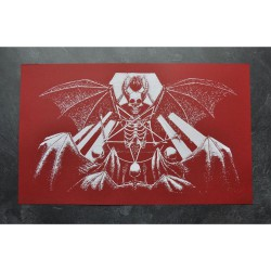 Tsjuder - Demonic Death Worship - Red (from Antiliv) - Screen print