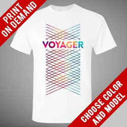 Voyager - Lines [White] - Print on demand