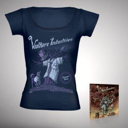 Vulture Industries - Stranger Times - CD DIGIPAK + T-shirt bundle (Femme)