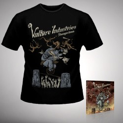 Vulture Industries - Stranger Times - CD DIGIPAK + T-shirt bundle (Homme)