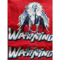 Warning - Red - T-shirt (Homme)