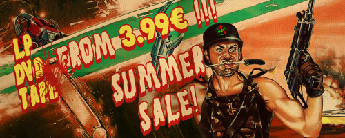 SUMMER SALE ON LP'S, DVD'S, BLU-RAYS DISCS AND CASSETTES!