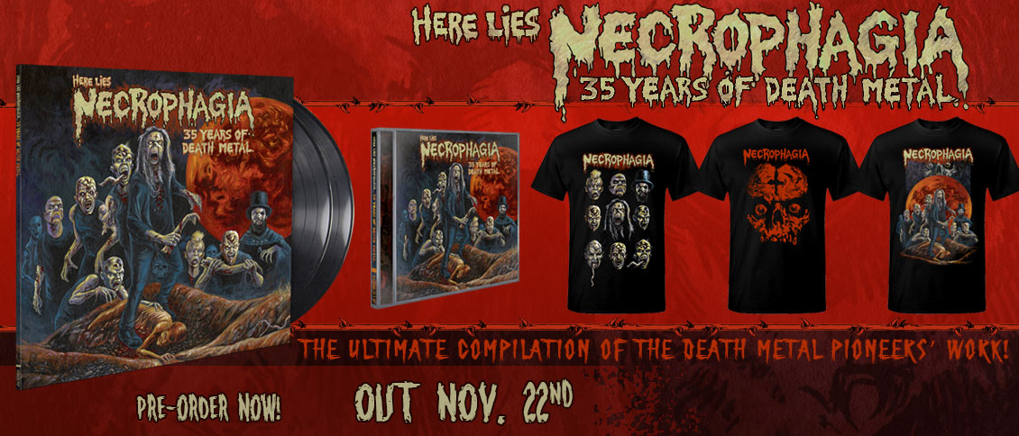 Necrophagia best of compilation pre-order