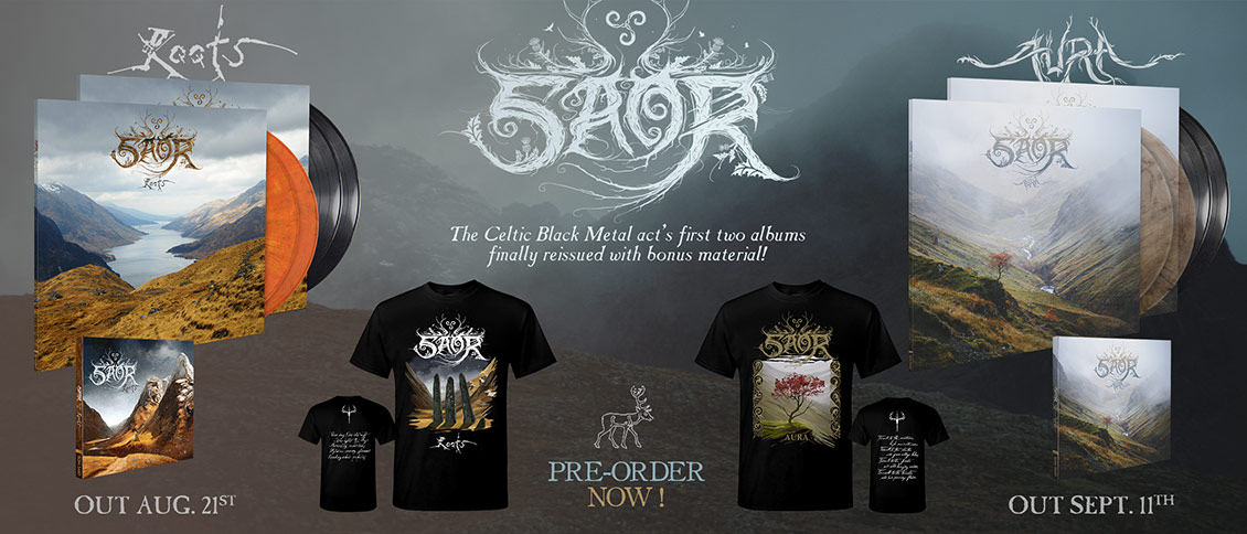 Saor - 'Roots' and 'Aura' reissue pre-order