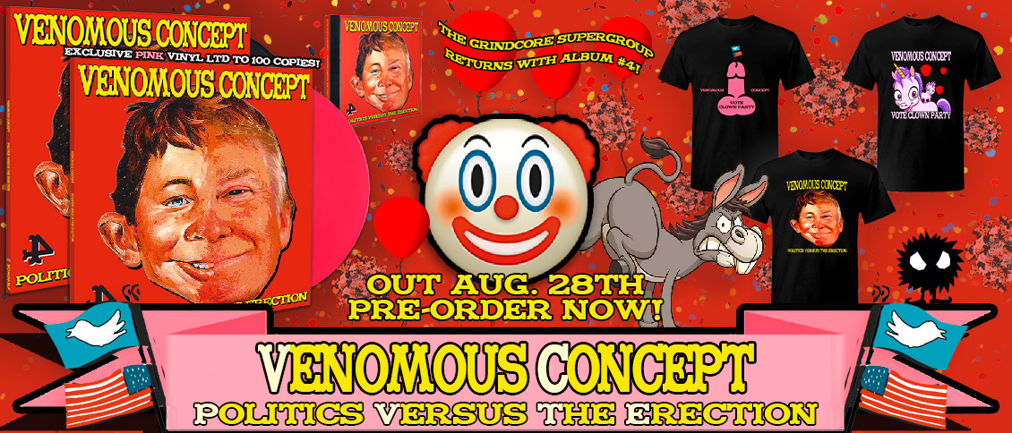 Venomous Concept new album Politics Versus The Erection pre-order