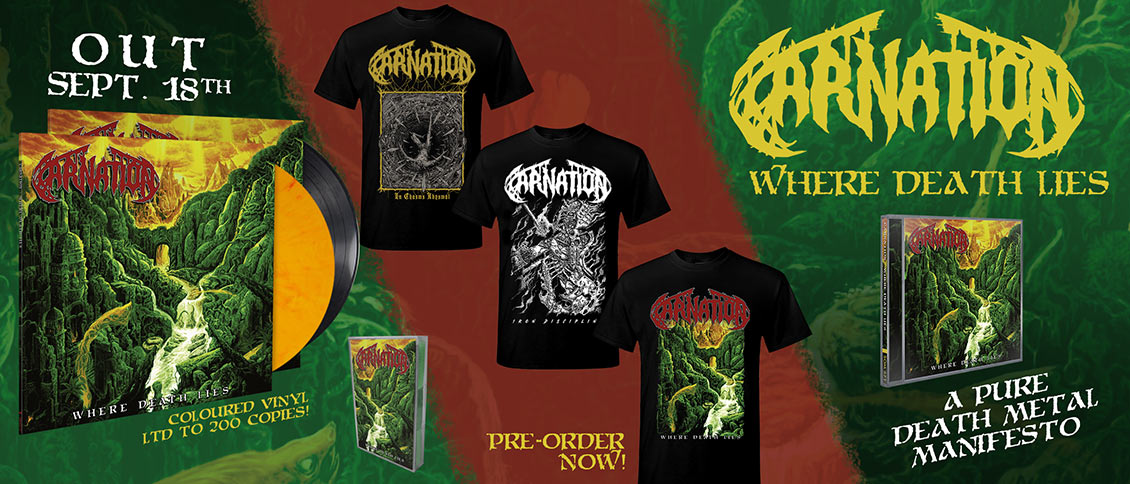 Carnation - Where Death Lies new album pre-order