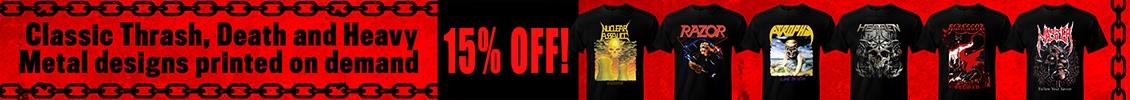 15% off on Thrash, Death and Heavy Metal on demand!